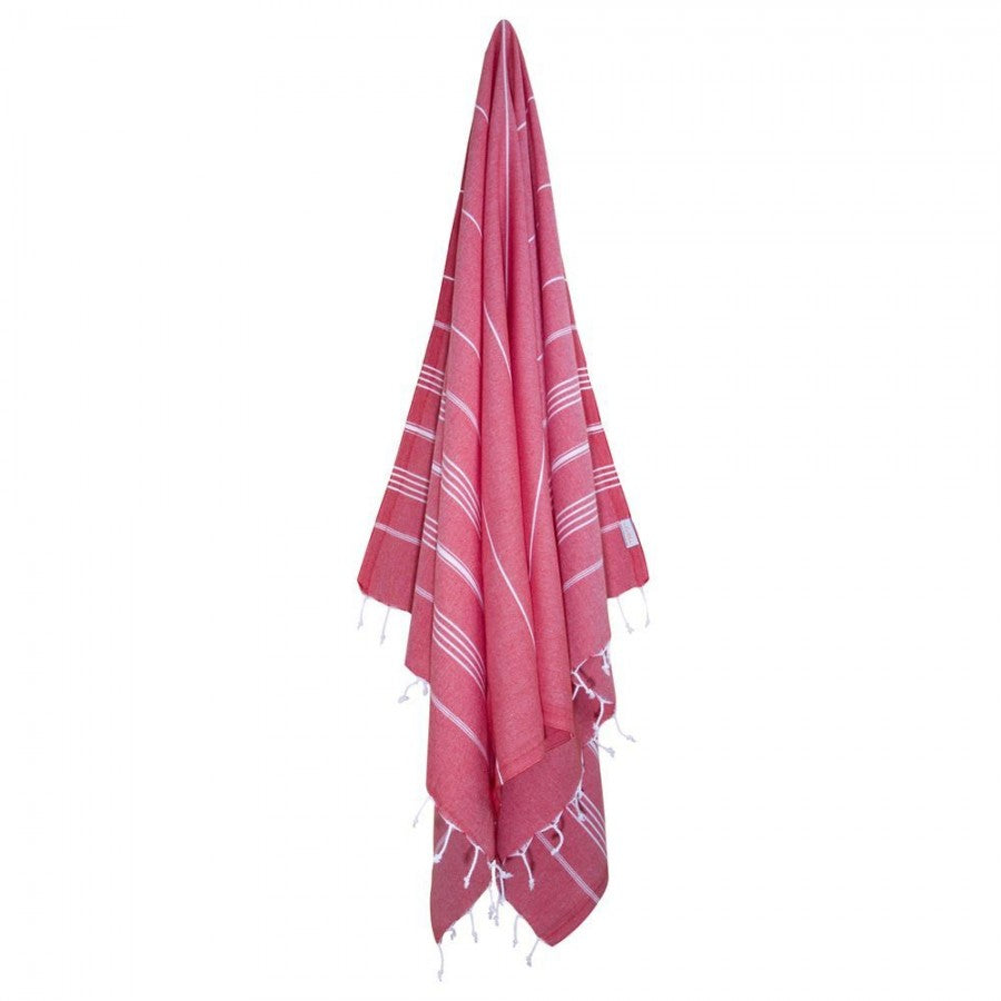 Classic Turkish Peshtemal Towel 100% Cotton Red