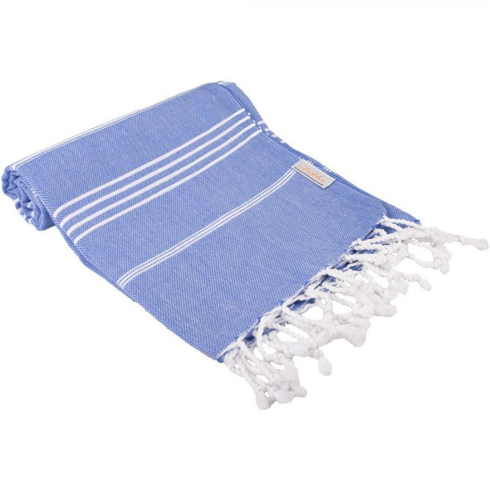 Classic Turkish Peshtemal Towel 100% Cotton Dark Blue