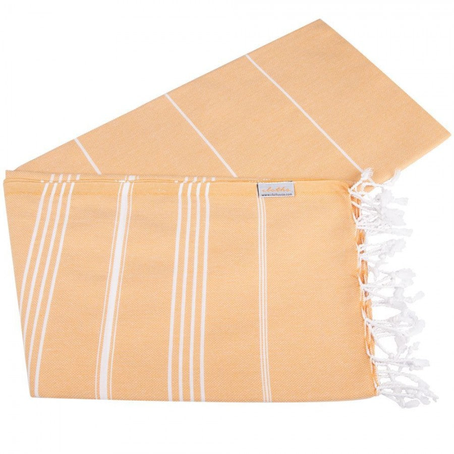 Classic Turkish Peshtemal Towel 100% Cotton Melon