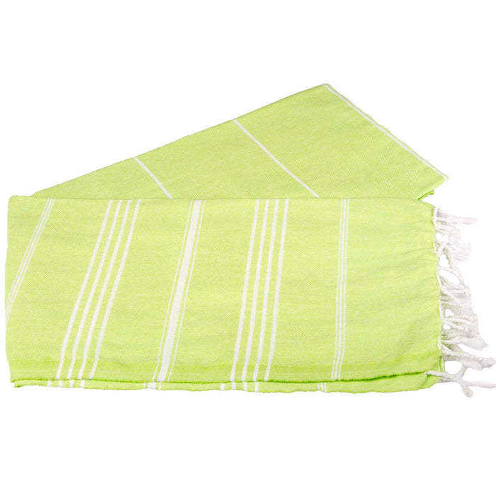 Classic Turkish Peshtemal Towel 100% Cotton Pistachio Green