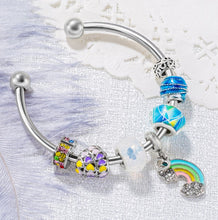 Rainbow Popsicle Charm Bangle