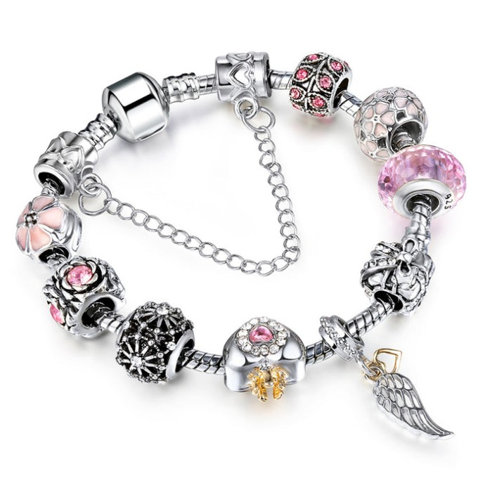 Angel Wings Charm Bracelet