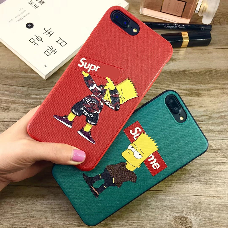 premium selection d77cc a1169 Bart Simpson x Supreme iPhone Case 6/7/8/X