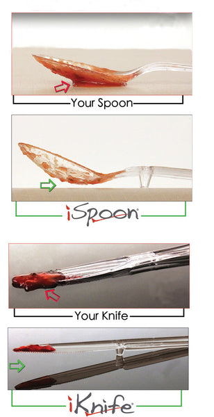 iFork iSpoon iKnife keep germs viruses and bacteria off your food and silverwear