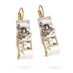 Abstract Crystal Earrings
