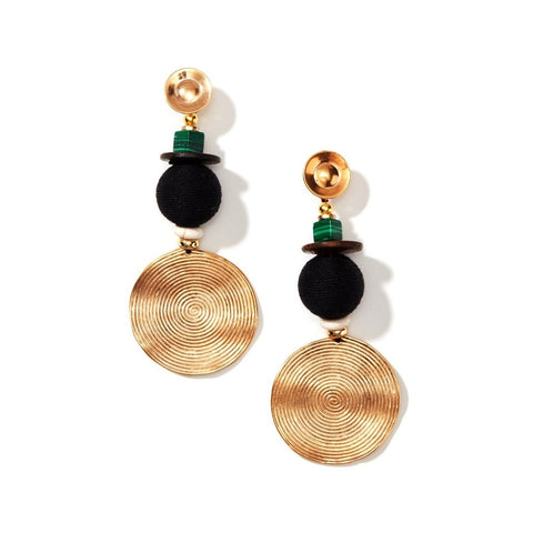 Picture of Elegant Genuine Gemstone Gold Plated Homegrown Earring