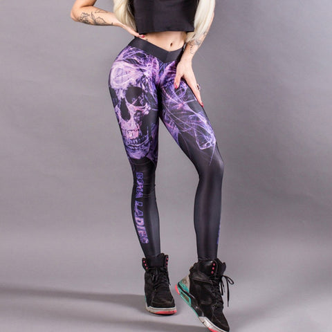 Picture of Women Colorful Printed Leggings Slim Sexy Yoga Pants