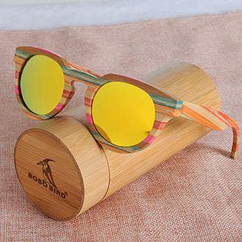 Picture of Beautiful Handmade BOBO BIRD Brand Made Of Bamboo Polarized Sunglasses For Women