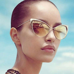 2018 Sexy Cat Eye Sunglasses Metal Frame HBK Brand