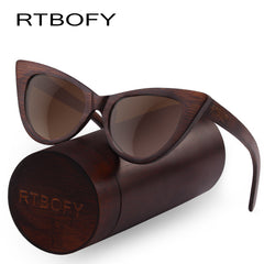 Made Upon Request RTBOFY Brand Cat Eye Bamboo Sunglasses For Women