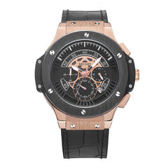 Watch Leather Chronograph Military Watch For Men