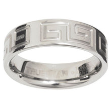 Load image into Gallery viewer, Tungsten Ring with Greek Key - US Size 8 - Ottery Jewellery