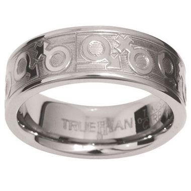 Unisex Tungsten Ring US Size 8.5 - Ottery Jewellery