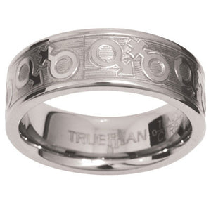 Unisex Tungsten Ring US Size 10 - Ottery Jewellery