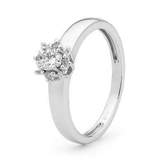Engagement Ring 0.29Ct Diamond 21