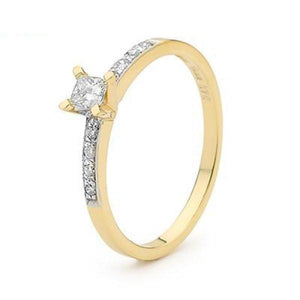 Princess Cut Diamond Engagement Ring - Flora 21