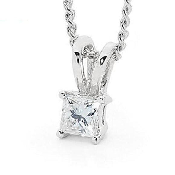 Princess Cut Diamond Pendant - 1/5 Carat 30