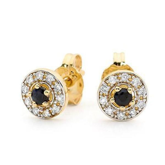 Sapphire Earrings With Diamond Halo 05