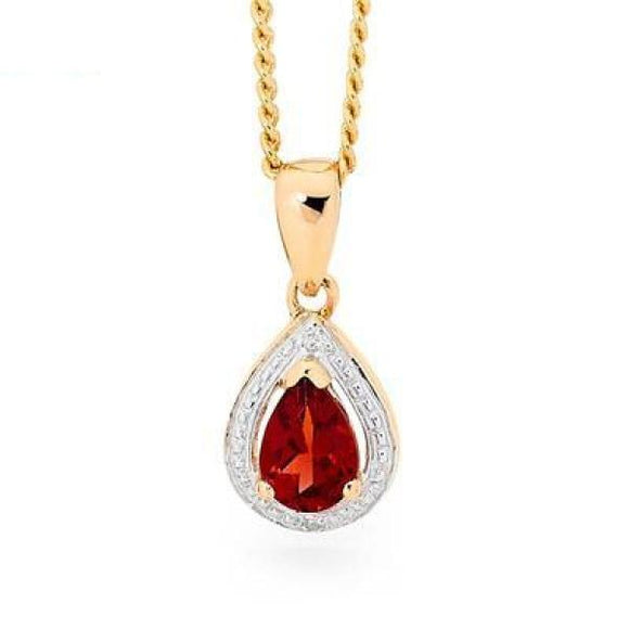Teardrop Ruby And Diamond Pendant 33