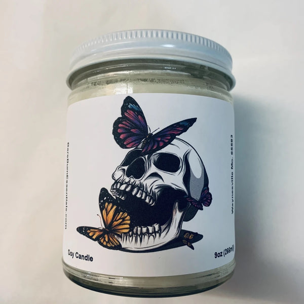 Skulls with butterfly's Candle