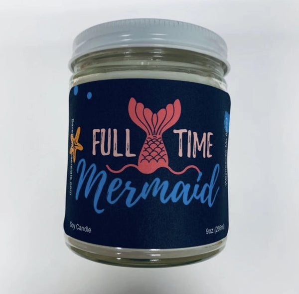 Full time Mermaid Candle