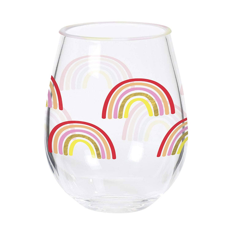 Rainbow Stemless Acrylc Drinkware - Frills on Fourth