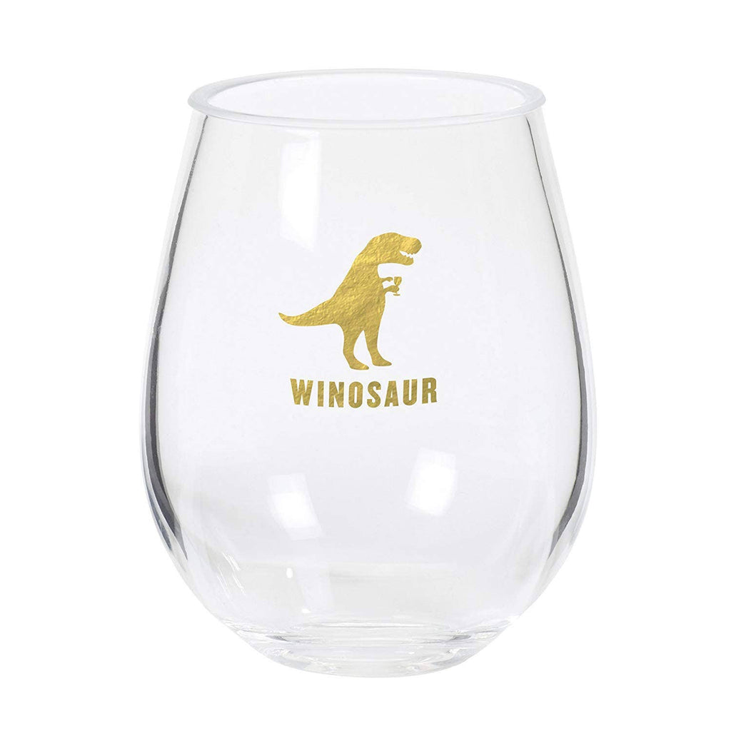 Winosaur Stemless Acrylc Drinkware - Frills on Fourth