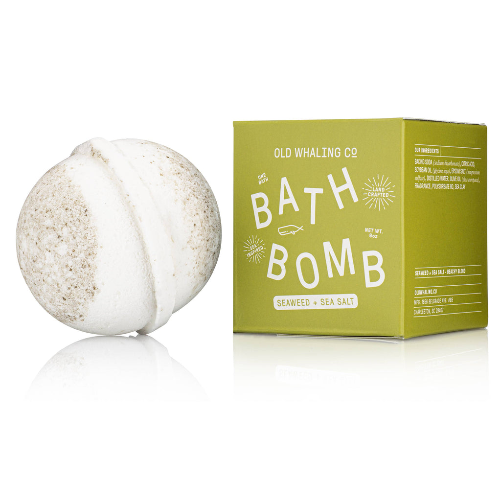 Seaweed & Sea Salt Bath Bomb - Frills on Fourth