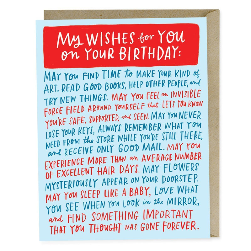 BIRTHDAY CARD | MY WISHES FOR YOU - Frills on Fourth