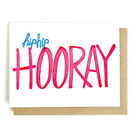GREETING CARD | LETTERPRESS HIP HIP HOORAY - Frills on Fourth