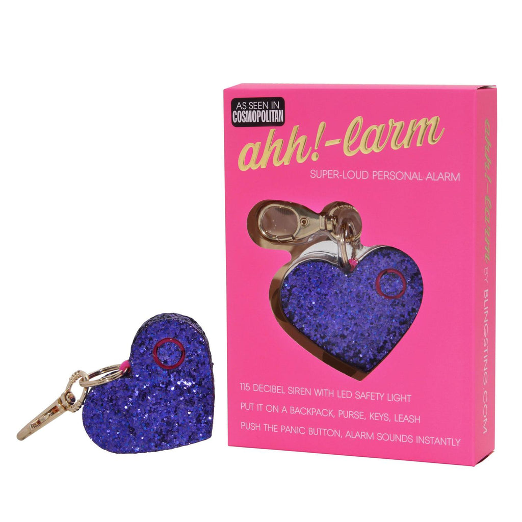 AHH!-LARM | PURPLE GLITTER HEART - Frills on Fourth