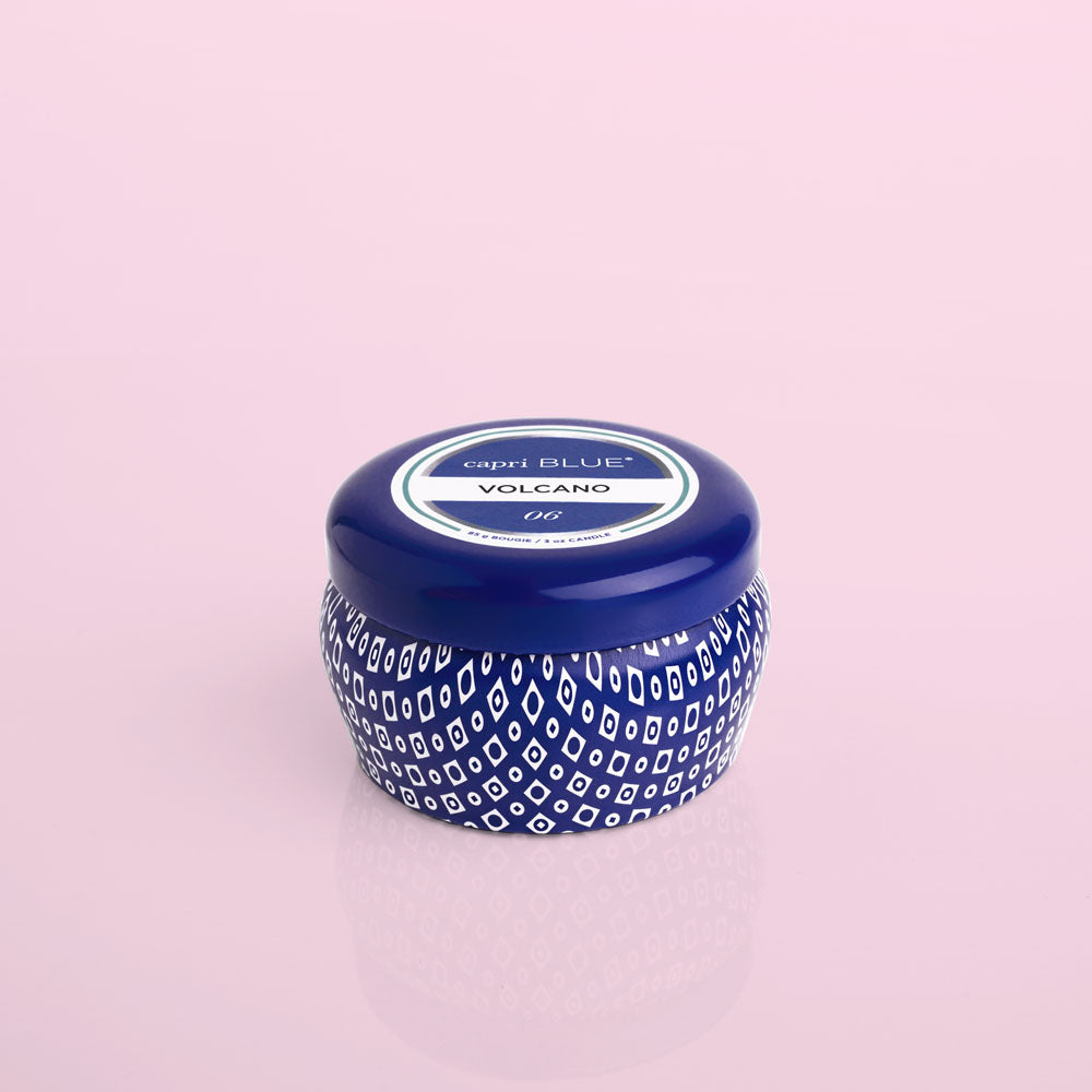 CAPRI BLUE | VOLCANO | MINI TIN CANDLE - Frills Boutique