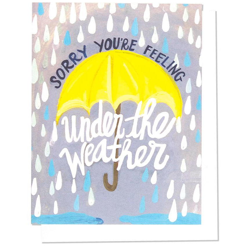 GREETING CARD | UNDER THE WEATHER - Frills on Fourth