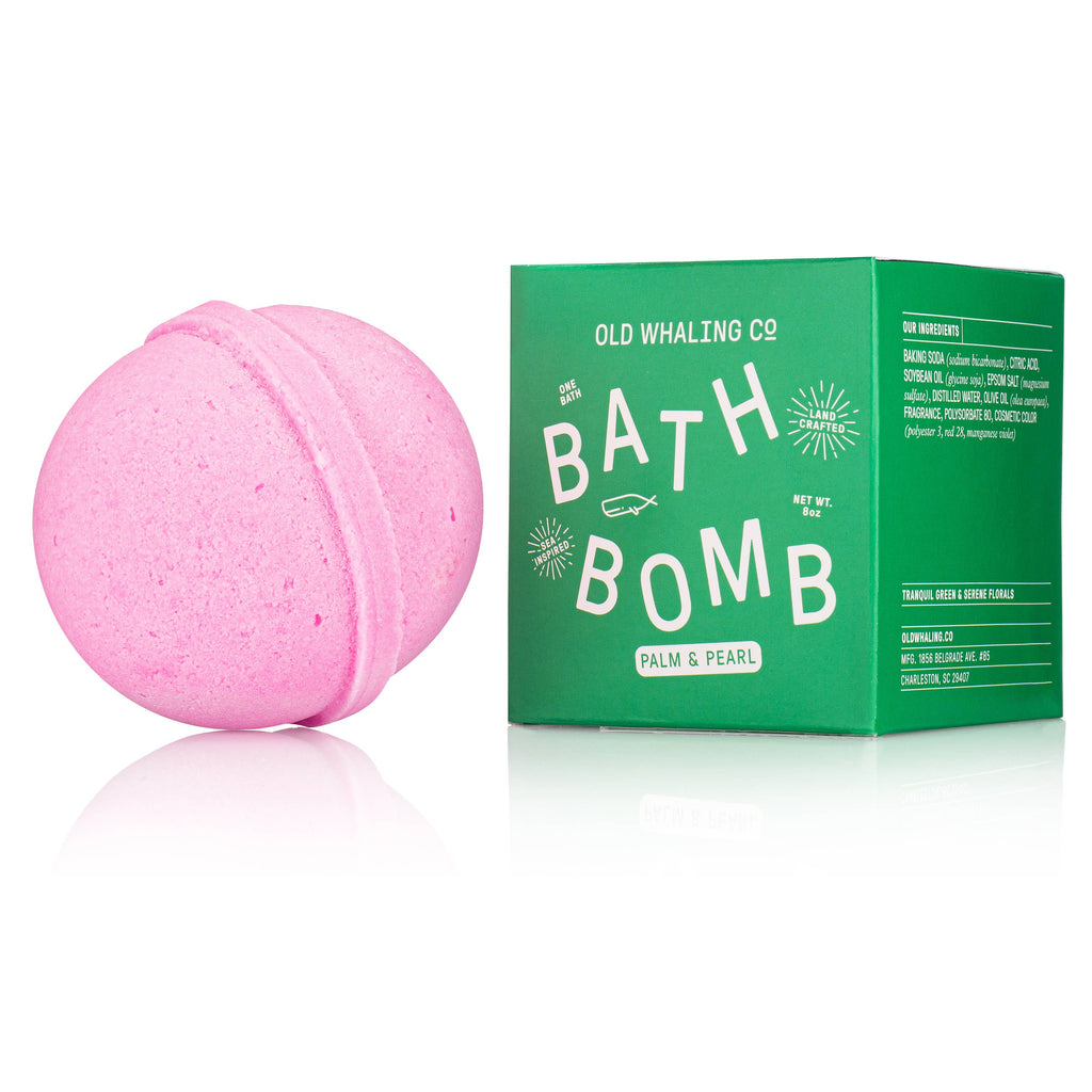 Palm & Pearl Bath Bomb - Frills on Fourth