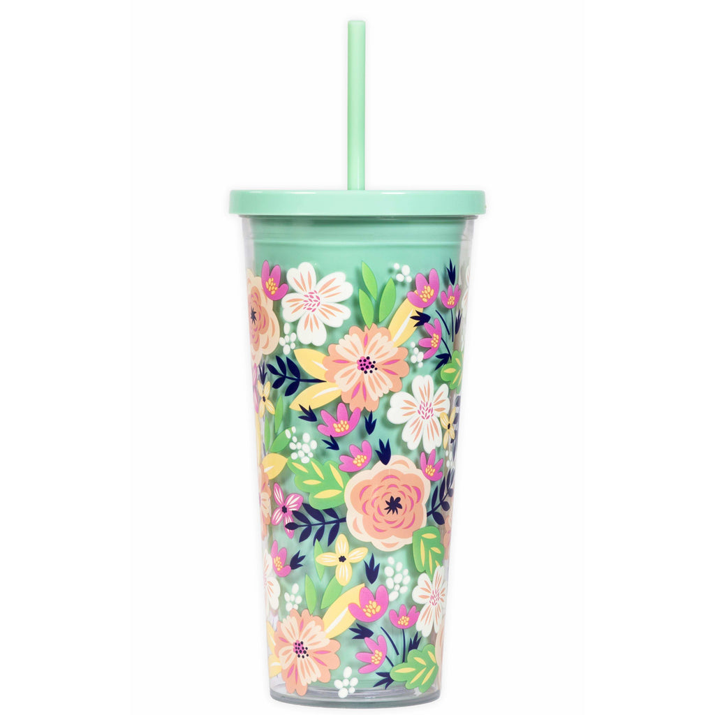 Tumbler | Mint Floral - Frills on Fourth