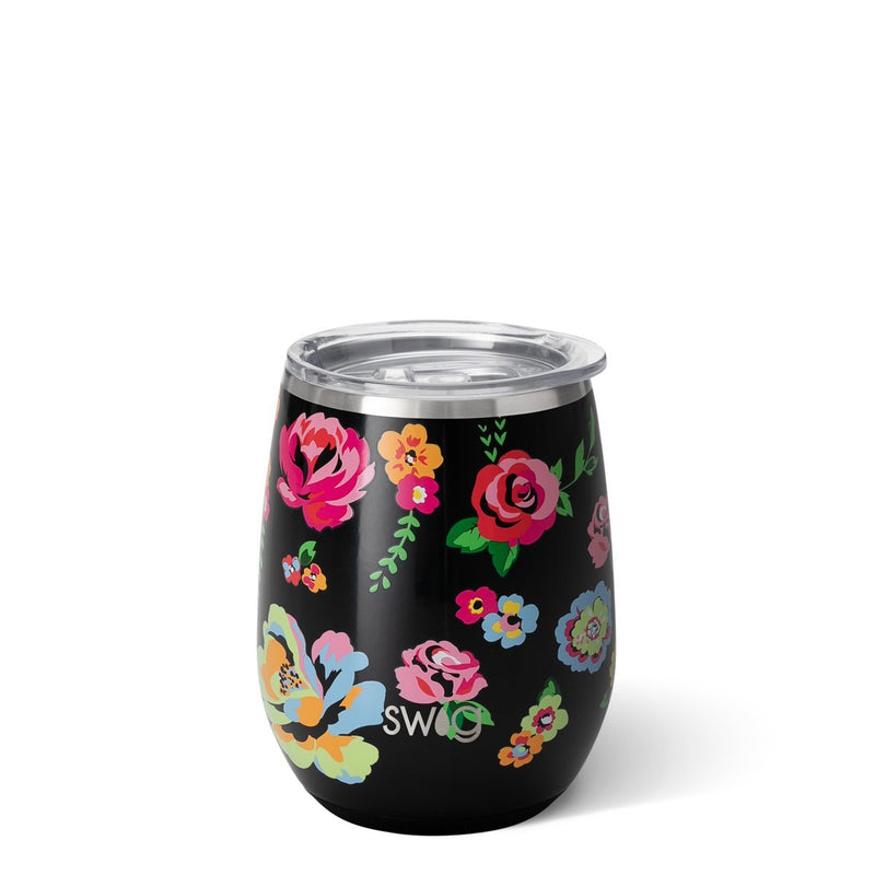 SWIG | STEMLESS WINE CUP : FLEUR NOIR - Frills on Fourth
