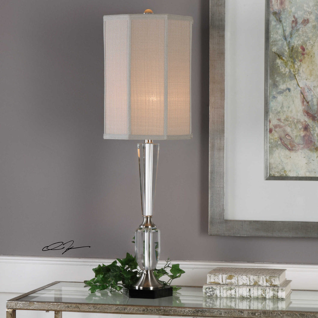 Eliza Crystal and Brushed Nickel Table Lamp