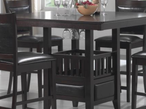 Jaden cappuccino counter high dining set