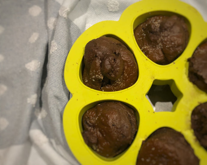 Healthy Cherry Ripe Muffins
