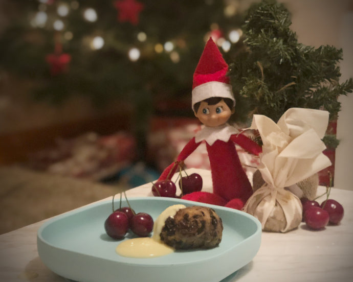 Steamed Christmas Kids Plum Pudding