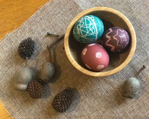 DIY Wax-Resist Easter Eggs