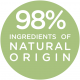 98% natural ingredients