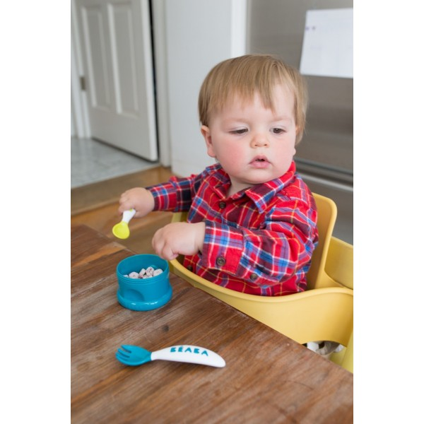 Ergonomic toddler cutlery set