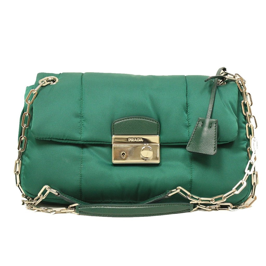 192ddf362cb3b1 ... where to buy womens bags more prada green bag taxes included get an  additional discount 3ff06