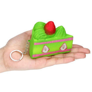 Strawberry Cake Keychain Squishy