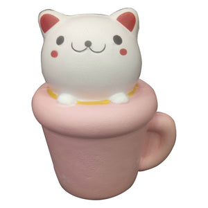 Cute Cat On Cup Squishy