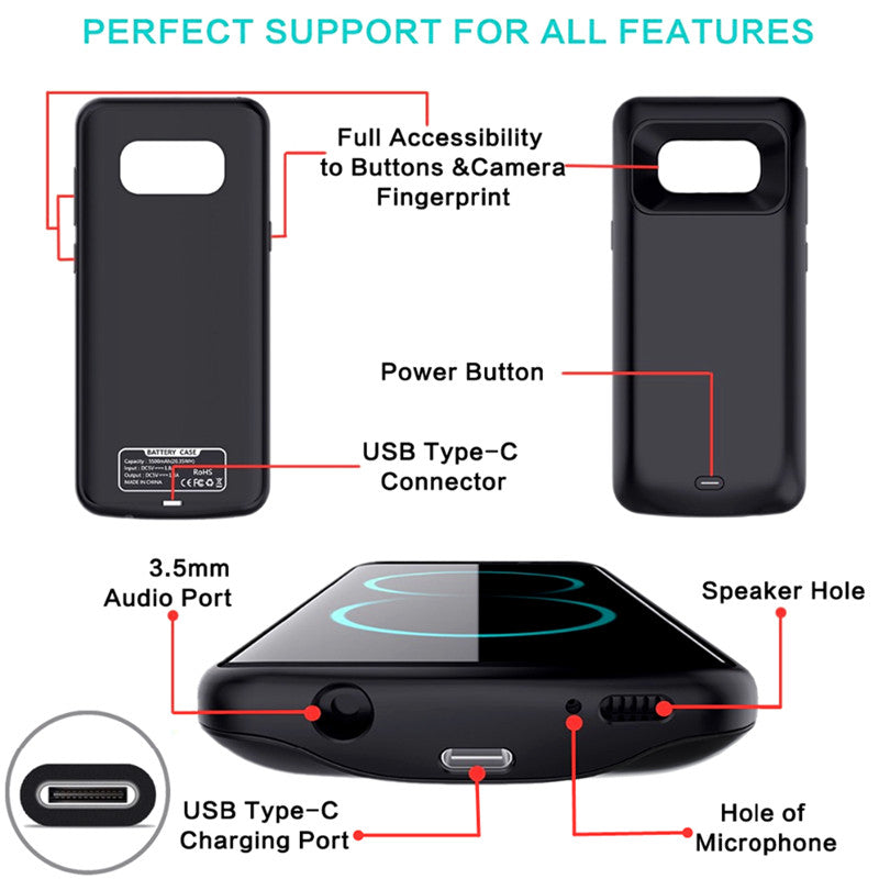 Powerbank and Case For Samsung Galaxy S8 & S8 Plus