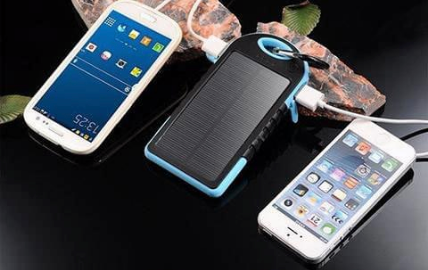 Image of Portable Solar Battery Charger Black