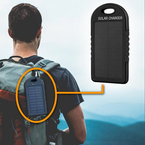 Portable Solar Battery Charger Black