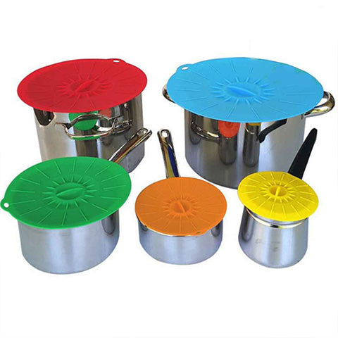 Image of Ultimate Anti-Overflow Leakage Silicone Suction Press  Cap Lid Wrap
